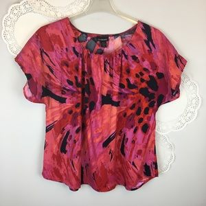 Lane Bryant Watercolor Abstract Blouse Size 18/20